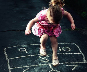 child, hopscotch, and kids image