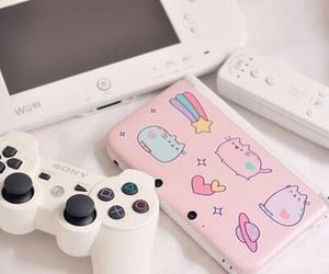 kawaii, pink, and videogames image