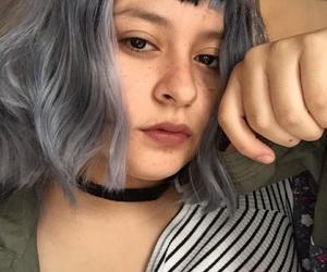 silver hair gray image