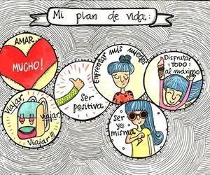 plan, vivir, and amar image