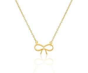 bow, dainty, and gold jewelry image