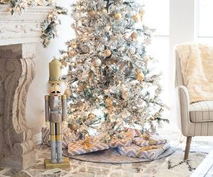 christmas, silver, and tree image