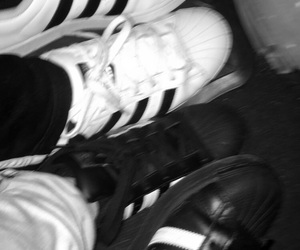 adidas, aesthetic, and b&w image