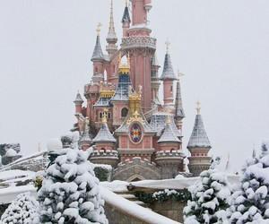 snow, disney, and winter image