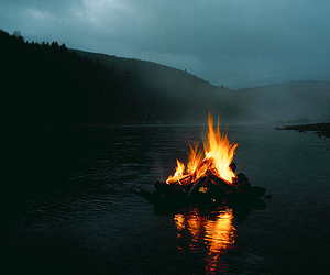 fire, water, and nature image