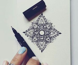 art, black, and drawing image