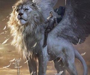 fantasy, lion, and art image