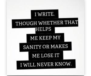 writer, writing, and insane image