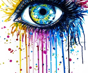 art, home, and rainbow eye image