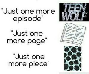 teen wolf, book, and sleep image