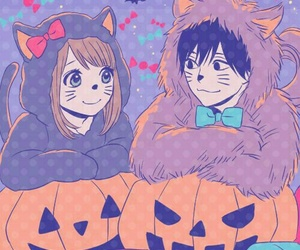 anime, Halloween, and orange image