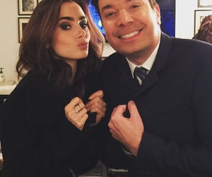 lily collins and jimmy fallon image