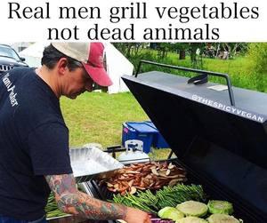 animals, potatoes, and real man image