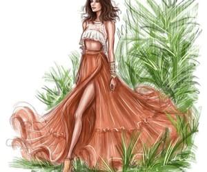 drawing, art, and fashion image