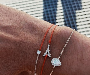 bracelet, diamond, and eiffel tower image