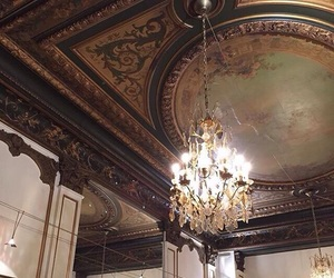 ceiling, chandelier, and house image