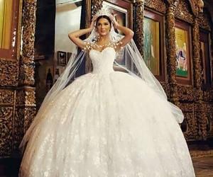 bride, wedding, and beautiful image