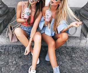 girl, look, and friends image