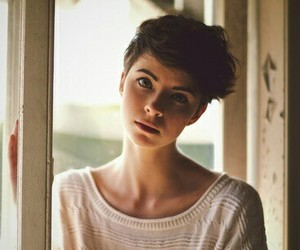 girl, short hair, and hair image