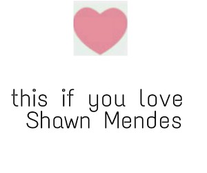 shawn mendes and heart+this image