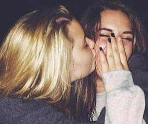 best friends, kiss, and friendship image