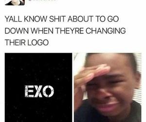 exo, exo funny, and exo meme image