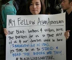 blasian, black lives matter, and poc lives matter image