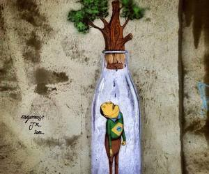 brazil, green, and os gemeos image