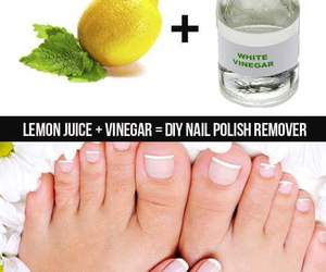 diy, nails, and lemon image