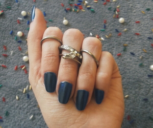 blue, pearls, and rings image