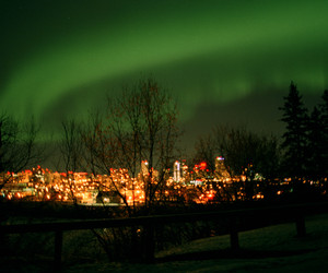 canada, northern lights, and edmonton image