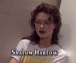 Shalom Harlow and 90s image
