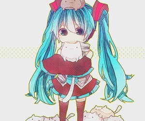 vocaloid, kawaii, and cat image