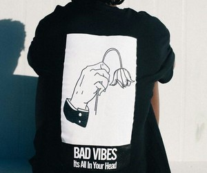 bad vibes, black, and grunge image
