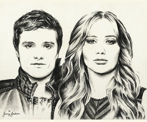 drawing and Jennifer Lawrence image