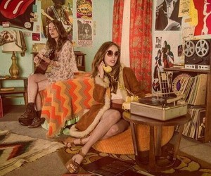 60s, fashion, and girls image