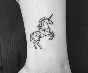 unicorn, tattoo, and tatto image