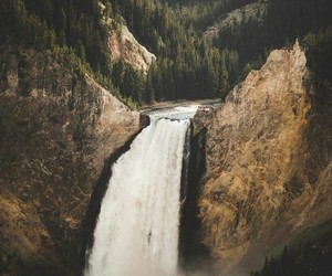 travel and waterfall image