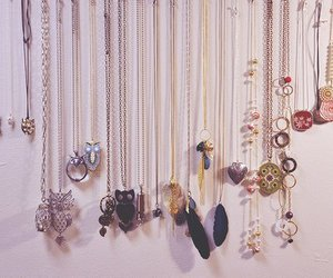 necklace, owl, and jewelry image