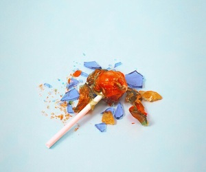 lollipop, minimalist, and blue image