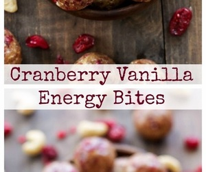 bites, cranberry, and energy image