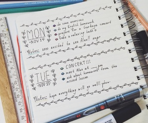 doodle, journal, and planner image