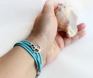 nautical, anchor bracelet, and seashell image