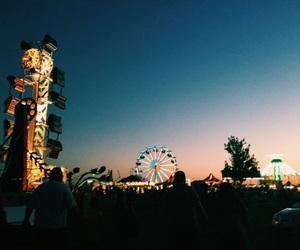 amusement park, beauty, and teens image