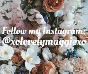 flowers, follow, and girly image