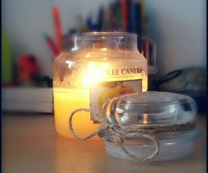 candle and autumn image