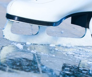 ice, skates, and winter image