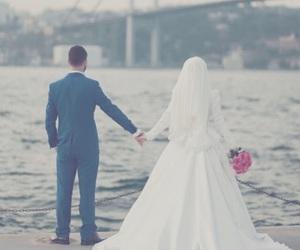 couple, hijab, and wedding image