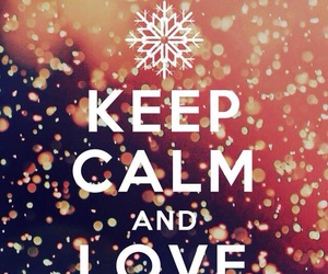 winter, keep calm, and snow image