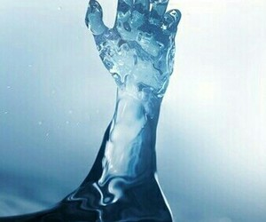 water, hand, and power image